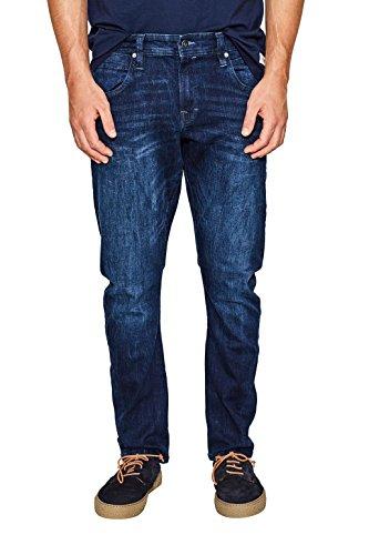 edc by ESPRIT Herren Slim Jeans 087CC2B008, Blau (Blue Dark Wash 901), W33/L36 (Slim Dark Denim Jeans Herren)