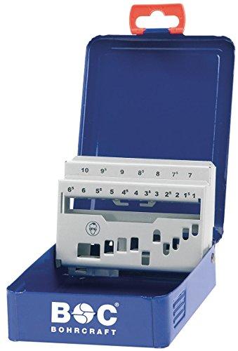 Craft de forage en métal et laser M 10 vide, 19 pièces pour mèche spirale HSS-G 338, 1 pièce, bleu foncé, 00801520019