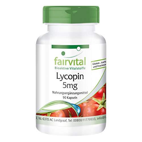Licopeno 5mg - VEGANO - Dosis elevada - 90 Cápsulas - a partir de extracto de tomate -...