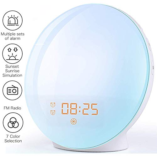 Wake Up Light Despertador Luz - 2019 LED Despertador Amanecer Simulación de Amanecer y Anochecer, 2...