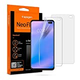 Spigen, 2 Pièces, Protection écran Samsung Galaxy S10 Plus, NeoFlex, Couverture maximale, Compatible avec capteur à Ultrason, TPU Film, Liquid Installation, Film Protection ecran S10+