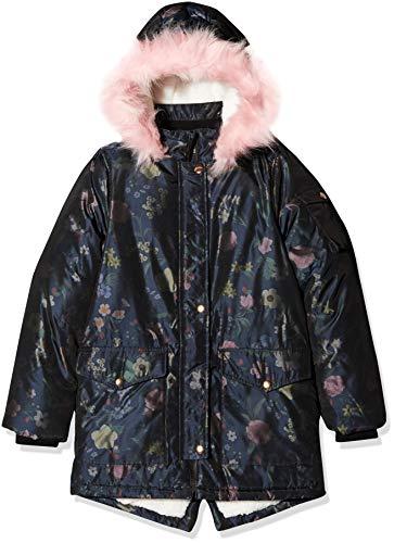 NAME IT Mädchen NKFMOSA Parka Jacket Jacke, Blau (Dark Sapphire Dark Sapphire), (Herstellergröße: 128)