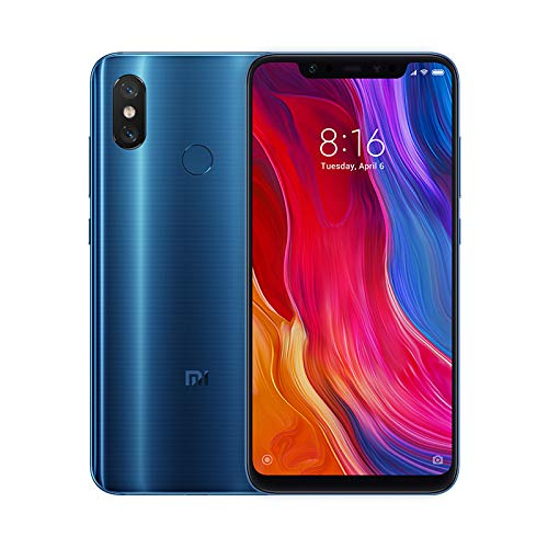"Xiaomi Mi 8 - Smartphone 6.21"" (Octa-Core Kryo 2.8 GHz, RAM 6 GB, memory 64 GB, GBmera of 20 MP, Android 8.0) Color blue [Spanish version]"