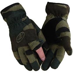 Benisport - Guantes de forro polar dedo cremallera talla s, color camuflaje