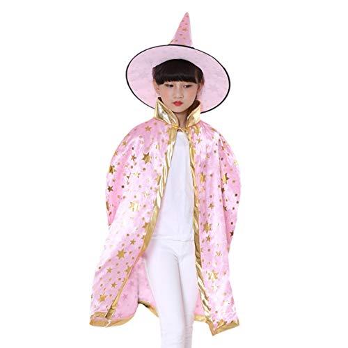 Blaward Halloween Kostüm Stern Umhang mit Hut für -