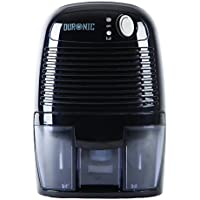 Duronic (Certified Refurbished) DH05 Mini Dehumidifier - Compact Black 500ml Portable Air Dehumidifier for Mould / Damp and Moisture Remover Perfect for Small Rooms | School | Work | Caravan | Garrage