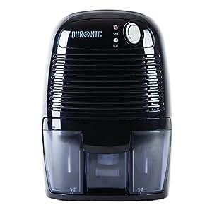 Duronic DH05 Mini Déshumidificateur noir - Parfait pour pièces et espaces réduits