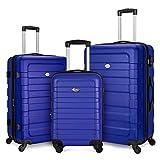 Fochier Juego de Equipaje expandible de 3 Piezas Hardshell Ligero con Bloqueo TSA (20'24' 28') Azul Real
