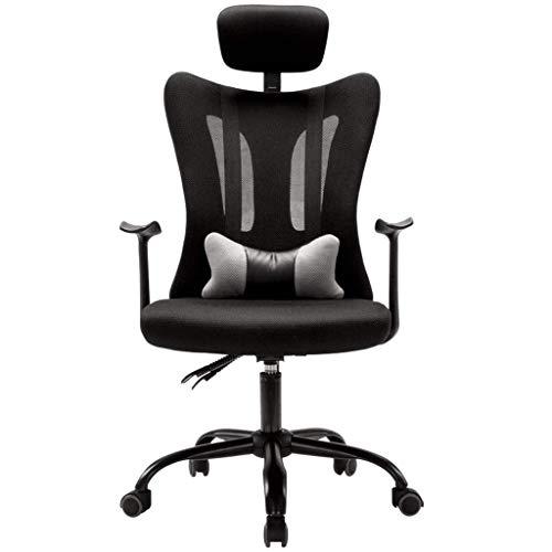 WJSWYZ Stühle Sofas Reclining Computer Stuhl Bürodrehsessel Home Lounge Sessel Arbeitszimmer Sessel Balkon Lounge Sessel (Farbe: Schwarz, Größe: 64cm * 64cm * 120cm)