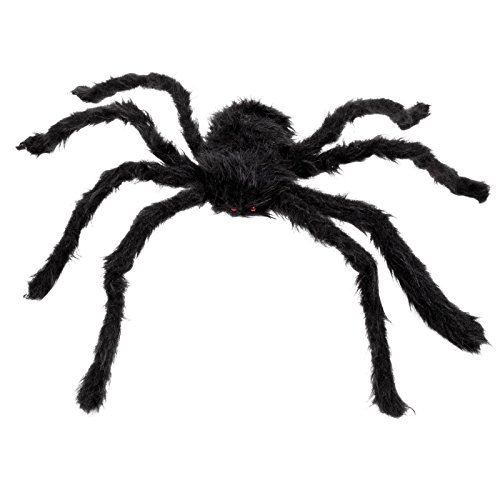 50cm Giant Hairy Spider Decoration Halloween Party Prop Table Decor Poseable legs Furry Black Creepy Crawlie Arachnid by BOLAND BV