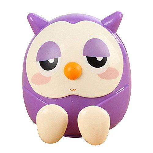 Cute Owl support pour téléphone support universel pour téléphone portable support d'économiser de l'argent Boîte Boîte de pièce de monnaie, ABS, violet, Taille unique