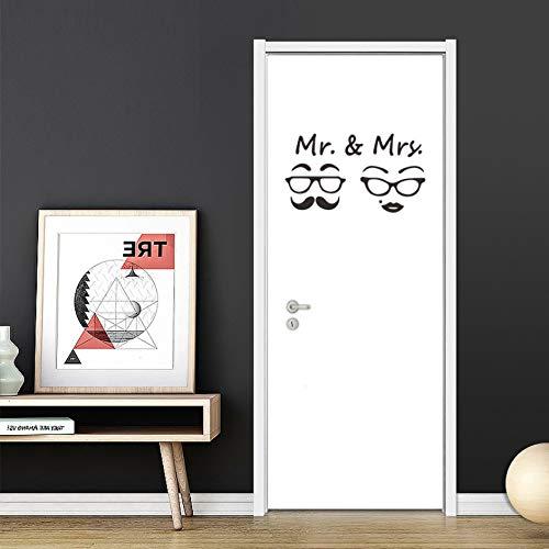 Retro Brille Wandaufkleber Wc Zeichen Hintergrund Dekoration Tapete Abnehmbare Tür Aufkleber Wandtattoos