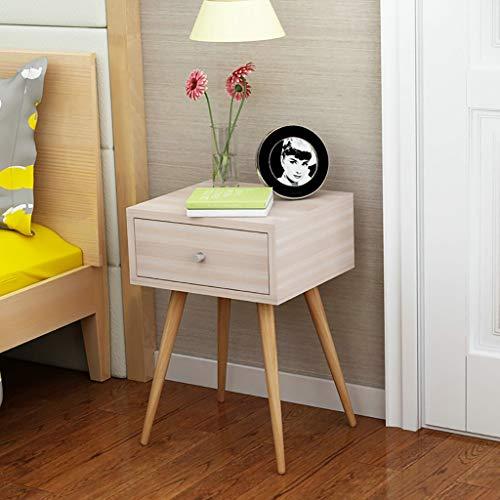 Jxxddq comodino comodino da camera da letto moderno con ante ad angolo e armadietto minimalista (dimensioni : 40x57.5x35cm)