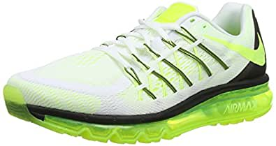 Nike  Air Max 2015, Chaussures de running pour homme Multicolor (White/Volt/Black) 46