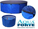 AquaForte Folding Flexi Bowl Diameter 90x 60cm (H) Blue with Protective Mesh and practical bag