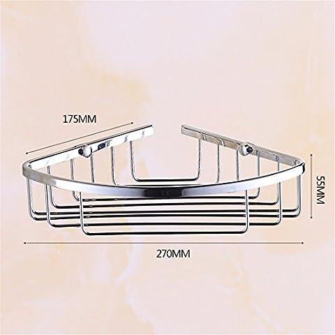 STAZSX Badezimmerwand Ablagekorb dreieckiges Eckablage Gestellen Bad Metall-Anhänger, Chrom Dreieck einschichtigen