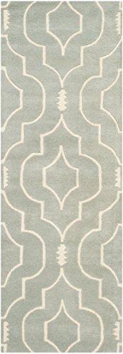 Safavieh Morgan Area Tappeto fatto a mano, colore: grigio/avorio, 68 x 213 cm