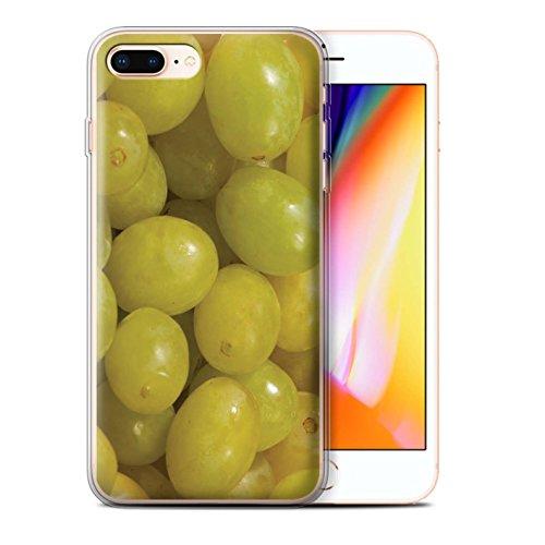 Stuff4 Gel TPU Hülle / Case für Apple iPhone 8 Plus / Himbeere Muster / Saftige Frucht Kollektion Weintrauben