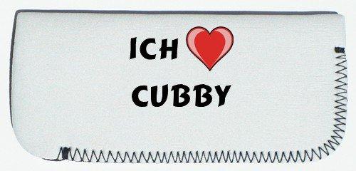 Brillenetui mit Ich liebe Cubby (Vorname/Zuname/Spitzname) (Cubby Mitten)