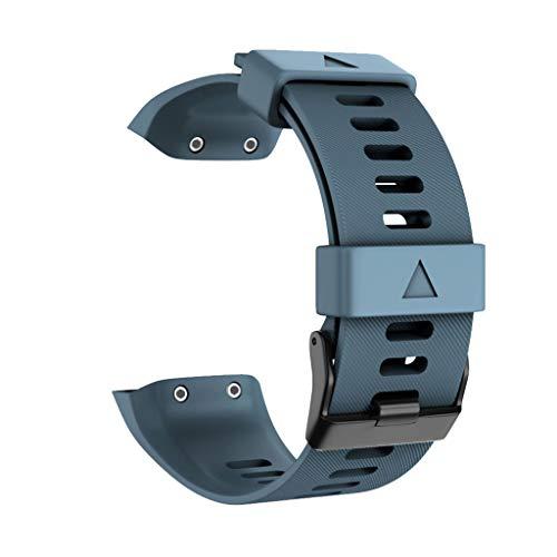 Für Garmin Forerunner 35 Uhrenarmbänder Amuse-MIUMIU Weiches Sport Silikon Uhrenarmband Männer Damen Schnellverschluss Ersatzarmband Band Frauen Uhren Zubehör (Dunkelblau) (Damen Band Garmin-uhr)