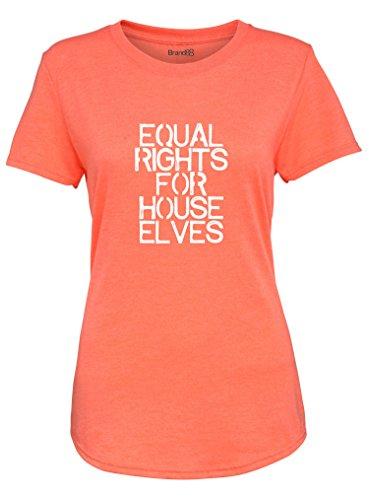 Equal Rights for House Elves, Damen-Modet-stück, Gewaschen Orange/Weiß, XS 6-8
