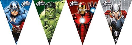 GER ASSEMBLE * für Geburtstag und Motto-Party // Plastic Flag Banner Kindergeburtstag Kinder Motto Superheld (Geburtstag Avengers)