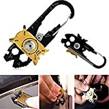 20in 1Edelstahl Schraubendreher Schlüssel Öffner Schlüsselanhänger EDC Tasche Multi Werkzeug Multi Werkzeuge