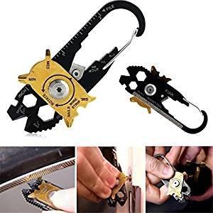20-in-1-Schlüsselanhänger aus Edelstahl, mit Schraubendreher, Flaschenöffner, EDC, Hosentaschenformat, Multi-Werkzeug