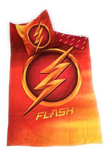 FLASH DC COMICS Juego de ropa de cama–funda de...