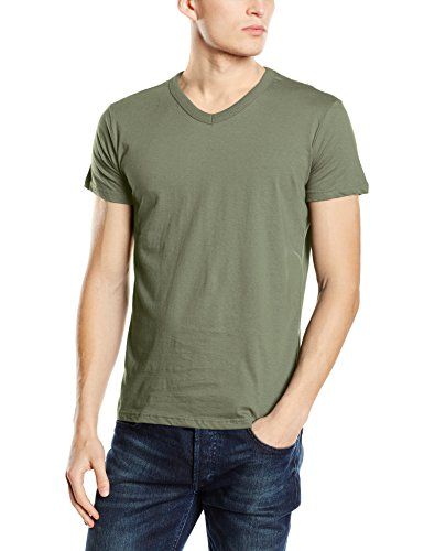 Stedman Apparel Herren T-Shirt Ben (V-Neck)/st9010 Premium Grün - Military Green