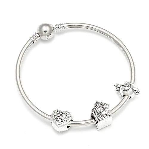 ABDYTE Charm Armbänder Mit Liebe Herz Teekanne Haus Perlen Marke Armband Für Frauen Schmuck