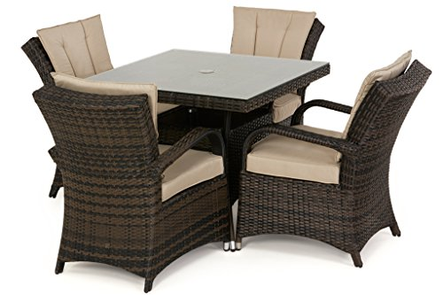 San diego rattan garden furniture houston 4 seater square for Z furniture houston
