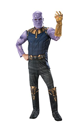 Rubies Herren Deluxe Thanos Infinity Krieg Maskenkostüm - Mehrfarbig, Size ()
