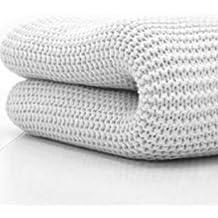 Belledorm - Coperta di lana a maglie larghe per letto singolo, 180 x 228 cm, 100% cotone, colore: Bianco