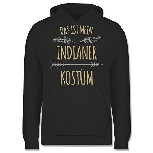 Kostüm Marken Indianer - Shirtracer Karneval & Fasching - Das ist Mein Indianer Kostüm - XXL - Anthrazit - JH001 - Herren Hoodie