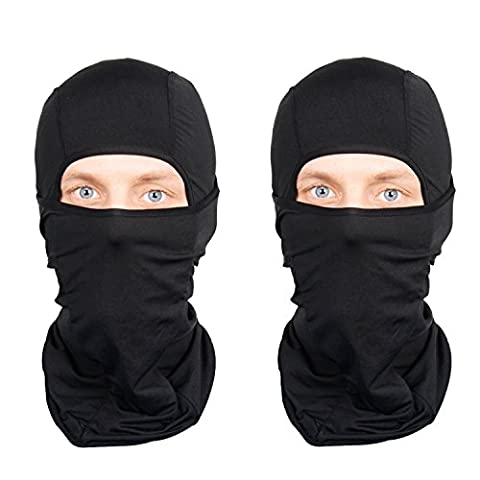 Balaclava 2-Pack Face Mask Motorcycle Helmets Liner Ski Gear Neck Gaiter Ski Mask Accessories by The Friendly Swede (extra warm Nordic