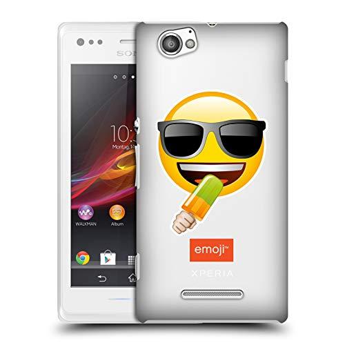 Head Case Designs Offizielle Emoji® EIS Am Stiel Sonnenbrillen Logo Harte Rueckseiten Huelle kompatibel mit Sony Xperia M/M Dual