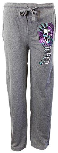 Escuadrón de suicidio oficial Joker Lounge Heather gris pantalones pijama fondos