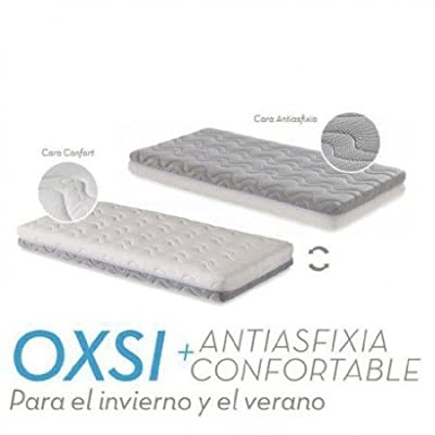 Ecus Kid Colchón de Cuna Oxsi 120x60 + Protector Soft de Regalo