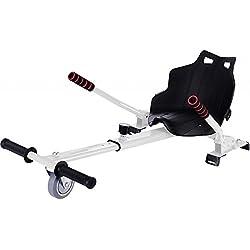 "MOBILE+ HoverKart, asiento para Hoverboard. Convierte tu Hoverboard en un kart con este asiento apto para modelos de 6.5"" a 10"" MB-HK6510.(Blanco)"