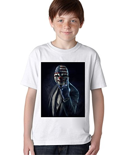 Character Baby T-shirt (Payday 2 The Heist Character T-Shirt Unisex Baby Kids T-Shirt Ages 5-13 X-Large)