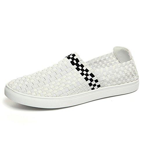 Estate scarpe comfort classico/Traspirante scarpe casual/Pedale marea scarpe Bianco