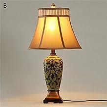 Jack Mall Estudio estadounidense mediterránea retro pueblo del sudeste asiático Salón Dormitorio de noche la decoración del florero lámpara de mesa chino ( Color : B )