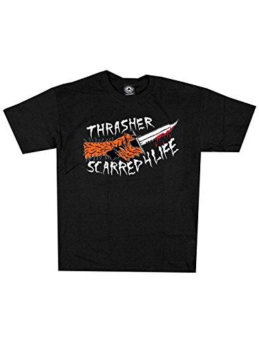 Herren T-Shirt Thrasher Scarred T-Shirt Black