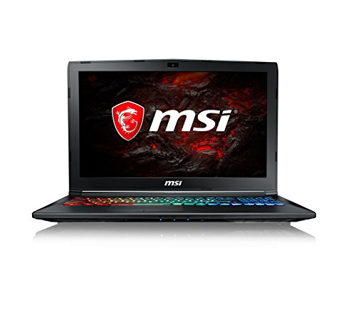 "MSI GP62 15.6"" FHD Gaming Laptop (Core i7-7700HQ, 8GB RAM, 128GB SSD, 1TB HDD, GTX 1060 Graphics, Windows 10 Home) 7RFX Leopard Pro 880UK - Black"