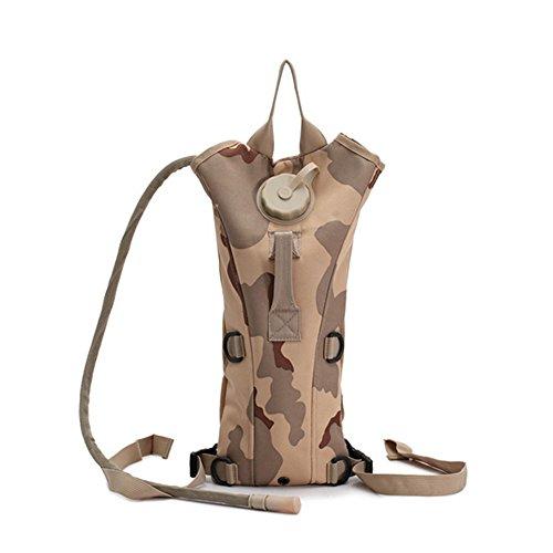 zooron verstellbar tragbar Langlebig 3L Hydration Pack Rucksack Camelbak Wasser Tasche mit Blase für die Jagd Survival Wandern Klettern Radfahren Running Sansha