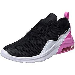Nike Air Max Motion 2 (GS), Chaussures de Gymnastique bébé Fille, Multicolore (Black/Metallic Silver/Psychic Pink/White 001), 36 EU