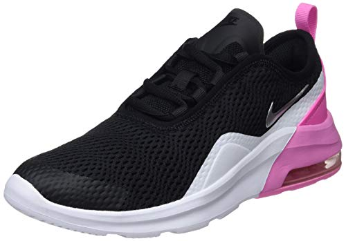 Nike Air Max Motion 2 (GS), Chaussures de Gymnastique bébé Fille, Multicolore (BlackMetallic SilverPsychic PinkWhite 001), 38.5 EU