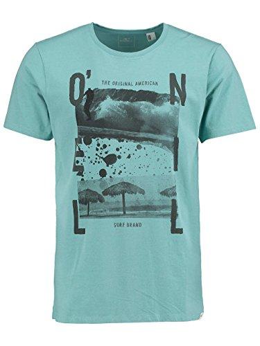 Herren T-Shirt O'Neill Splash T-Shirt dusty turqoise