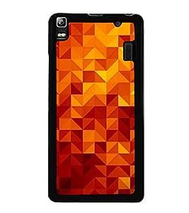 Beautiful Triangular Pattern 2D Hard Polycarbonate Designer Back Case Cover for Lenovo K3 Note :: Lenovo A7000 Turbo